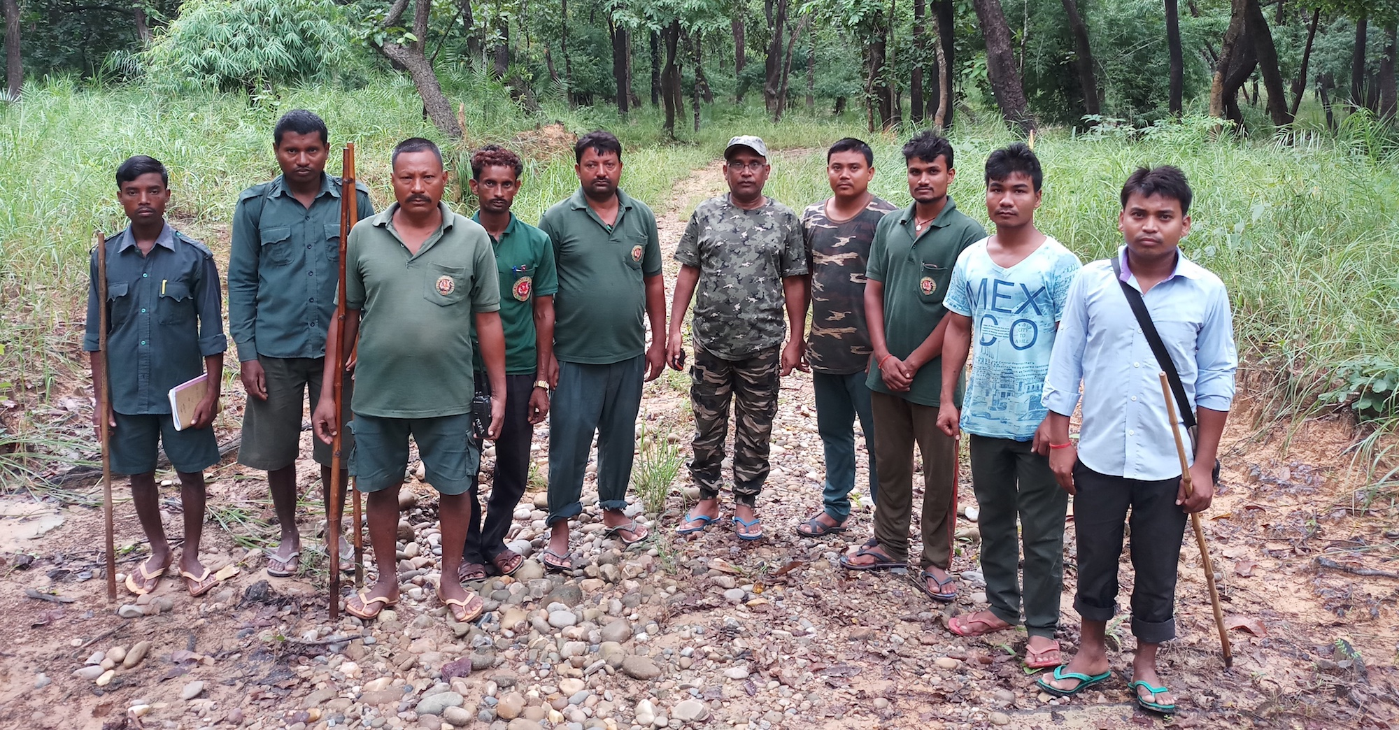 tiger trackers team photo by gurvinder singh