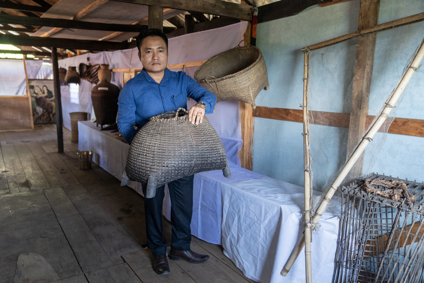 Tongbram Amarjit founded the Loktak Folklore Museum in 2016 to preserve the traditional fishing practices of his community. Photo credit: Kartik Chandramouli