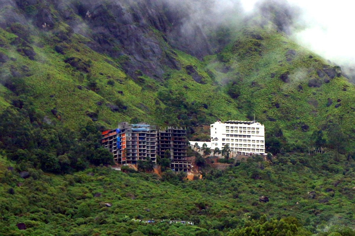 Hotels and resorts have been built over unstable slopes. Photo by special arrangement.