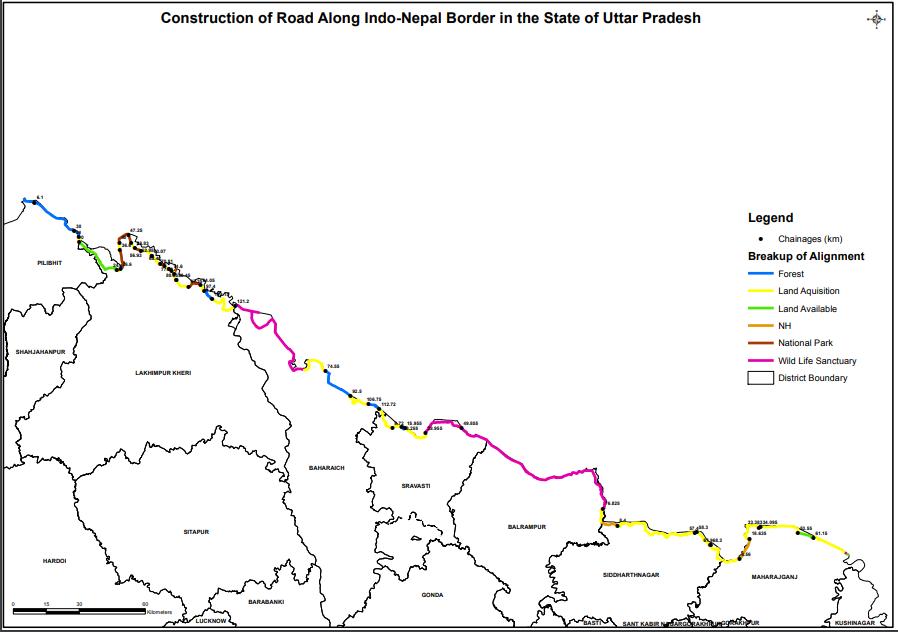 Indo-Nepal Border Road rides roughshod on Uttar Pradesh
