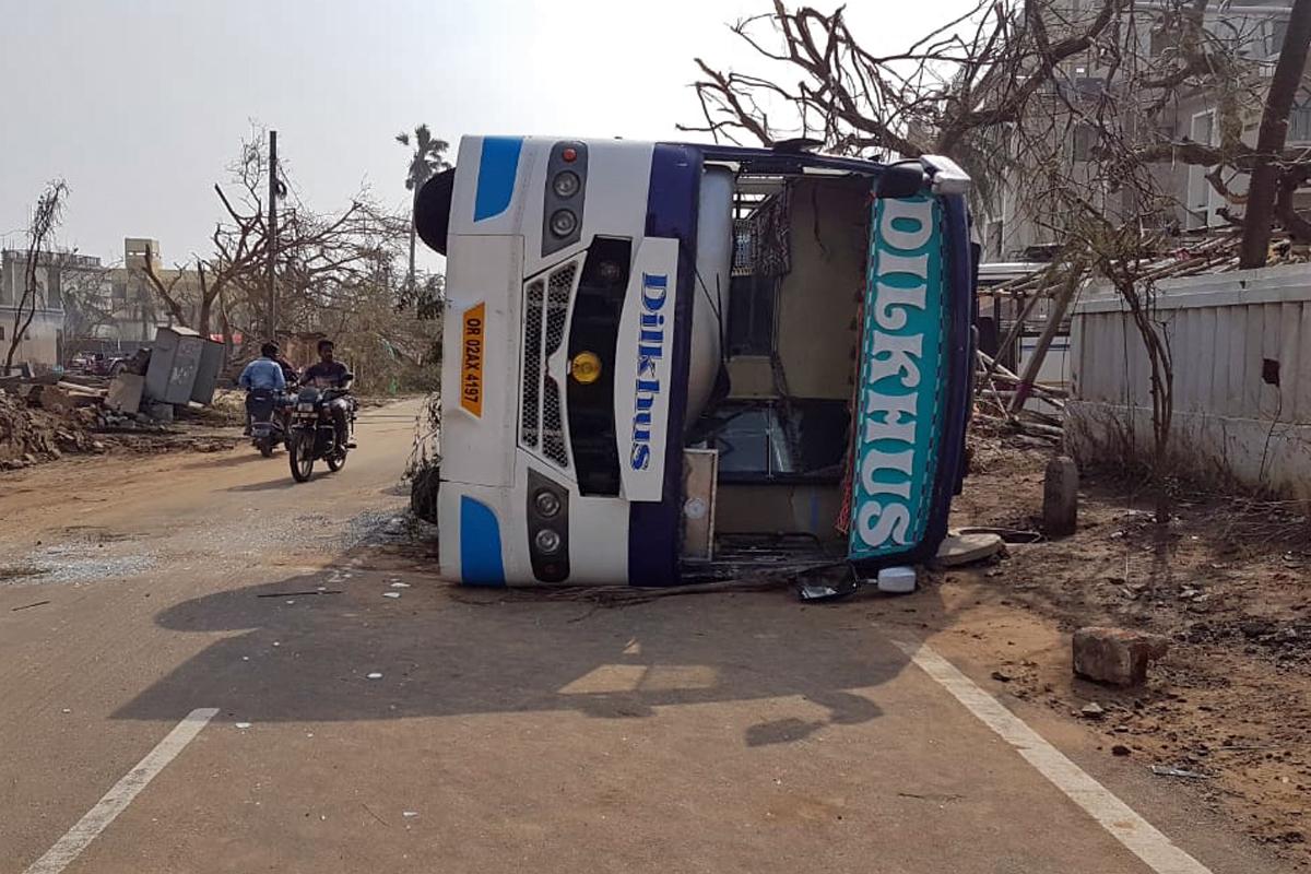The aftermath of cyclone Fani in Puri, Odisha. Photo by Manish Kumar.