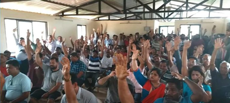 A special gram sabha (village council meeting) organised in 2017 for the preservation of Bondvol lake. Photo by Arturo D'Souza.