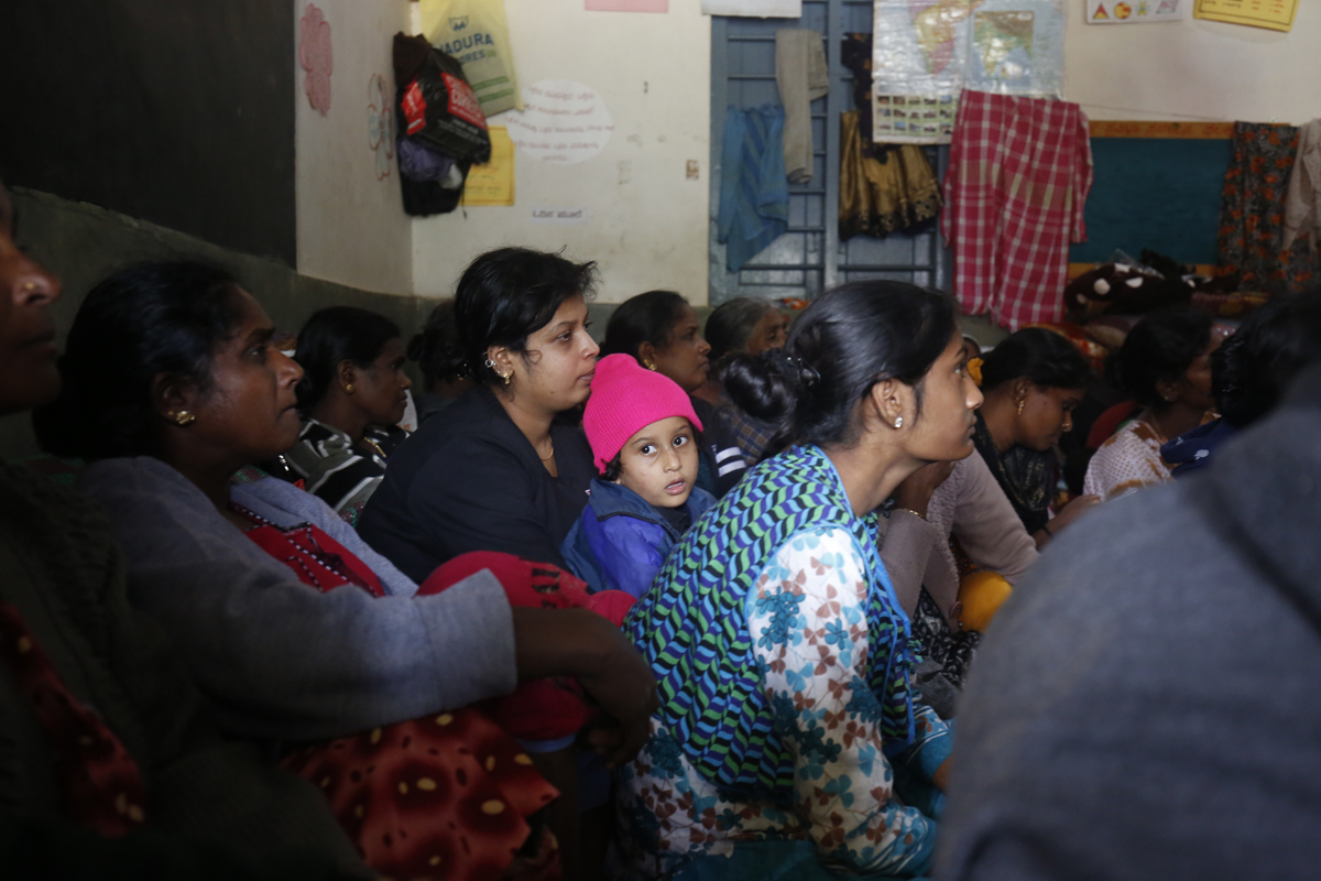 Women at a rehabilitation centre in Karadigodu village, Kodagu. Photo by Abhishek N. Chinnappa.