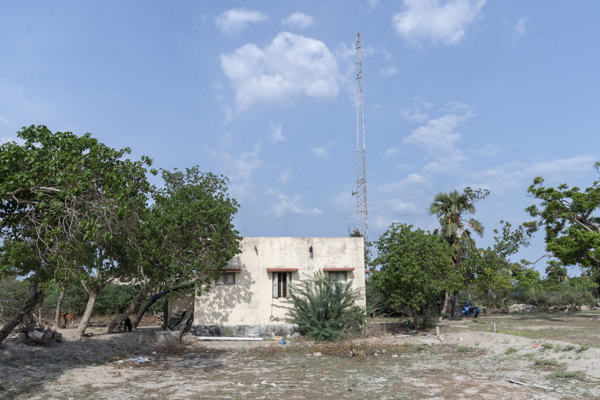 The community radio station, located three kilometers from the coast, broadcasts shows about the environment, climate change, disaster management, among other topics recorded by its trained volunteers. Photo by Kartik Chandramouli/Mongabay.