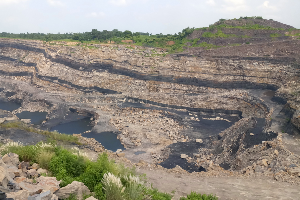 An opencast mine in Jharia that involves the extraction of coal through an open pit or borrow. The practice is considered to be one of the main reasons of environment pollution in the region.Photo by Gurvinder Singh.