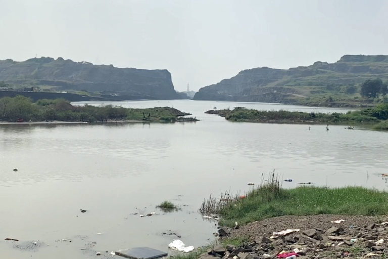 Majority of the area where the Navi Mumbai project is coming up lies in low-lying areas and has several water-bodies and hills. Photo by Nikhil Dixit.