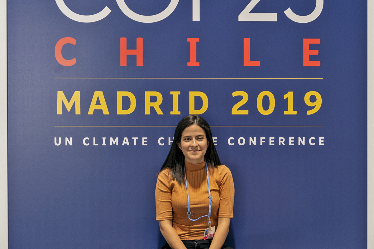 Sara Cognuck, a climate activist from Costa Rica. Photo by Kartik Chandramouli/Mongabay.