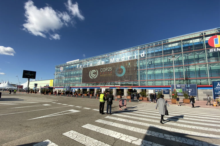 COP25 venue in Madrid, Spain. Photo by Kartik Chandramouli/Mongabay.