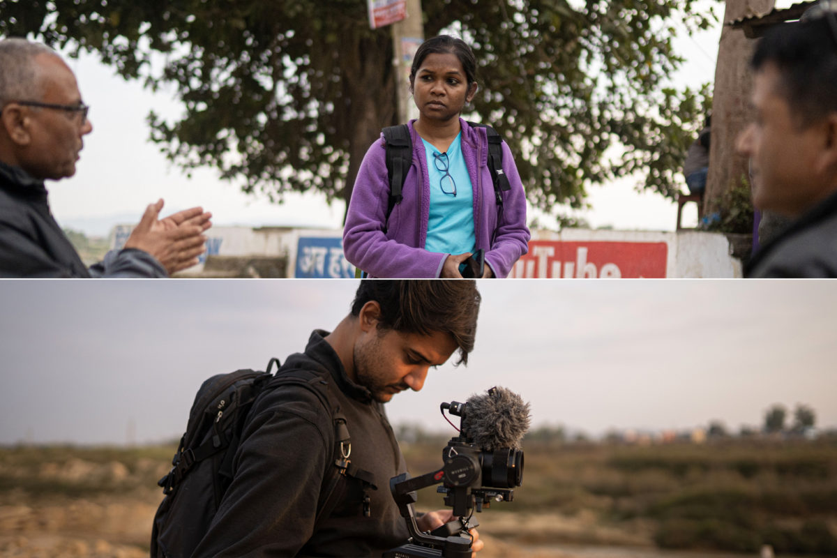 (Top) Neelima Vallangi and (bottom) Deej Phillips collaborated to make the documentary film after being increasingly concerned about the climate crisis and to raise awareness about the topic. Photos by Bijay Pradhan.