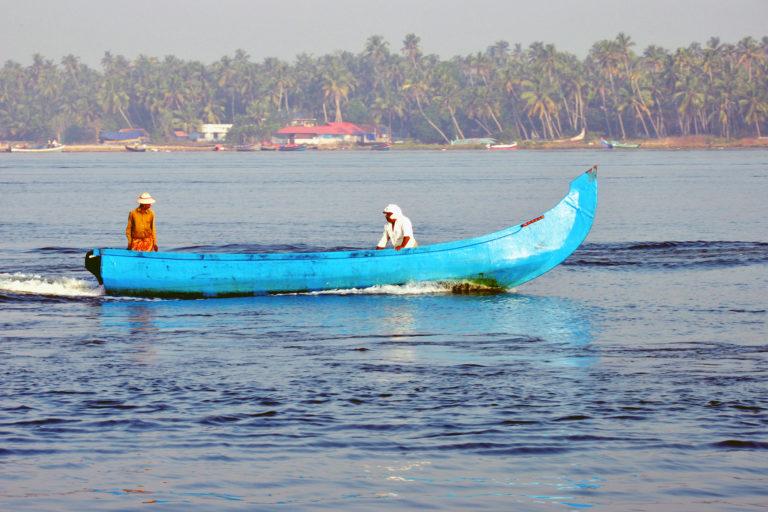 Traditional fishing vessels on Kerala's coast. Photo by Sibasis Guha/ICAR-CIFT.