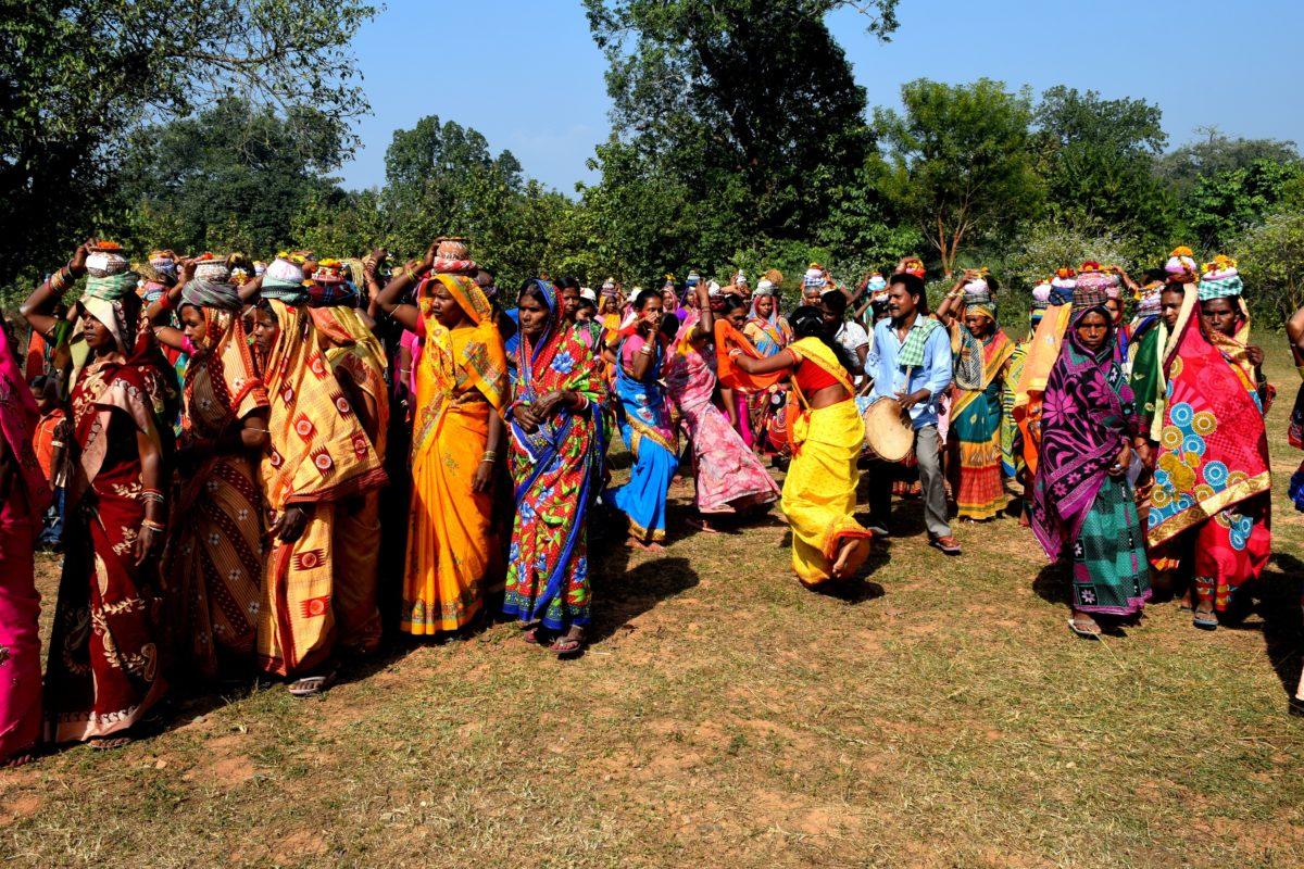 Women on their way to the indigenous seed festival at Gambharikhol village in Odisha's Nayagarh district. Photo by Basudev Mahapatra.