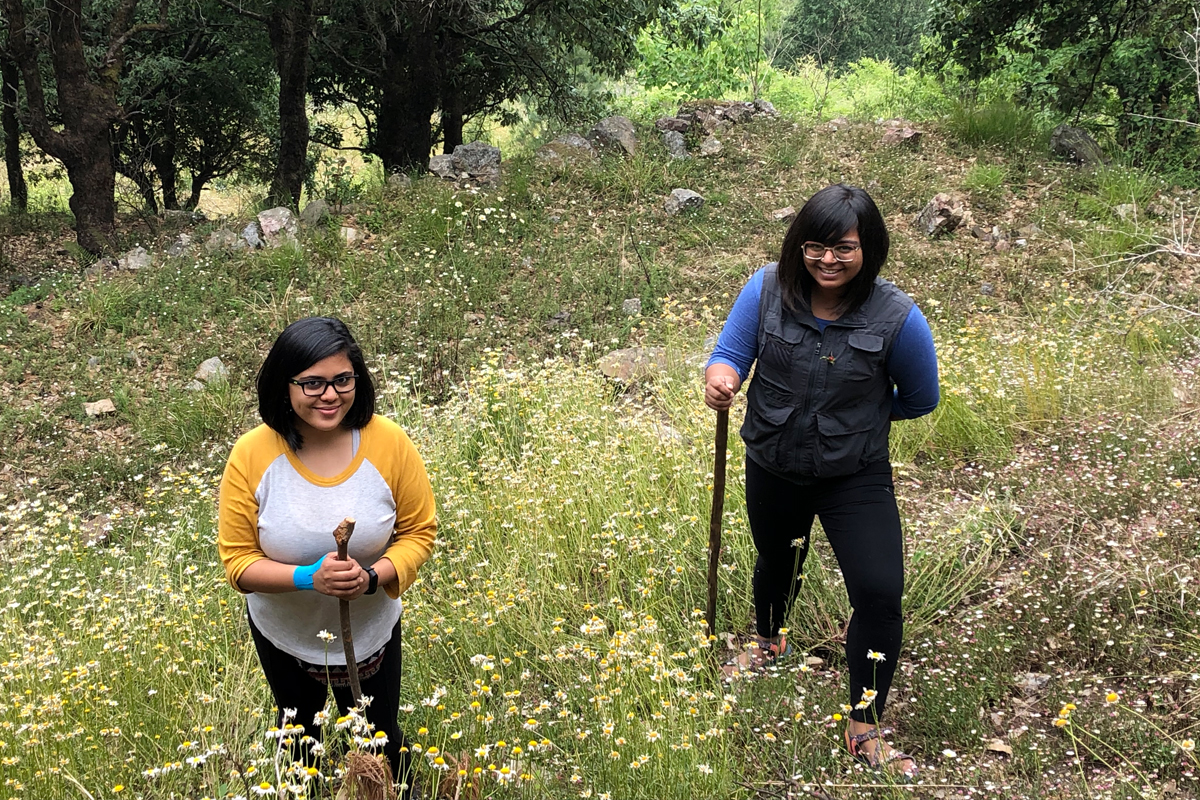 Mansi Sharma and Surabhi Sharma, two sisters at a holiday at the Jabarkhet Nature Reserve. Photo from Mansi Sharma.