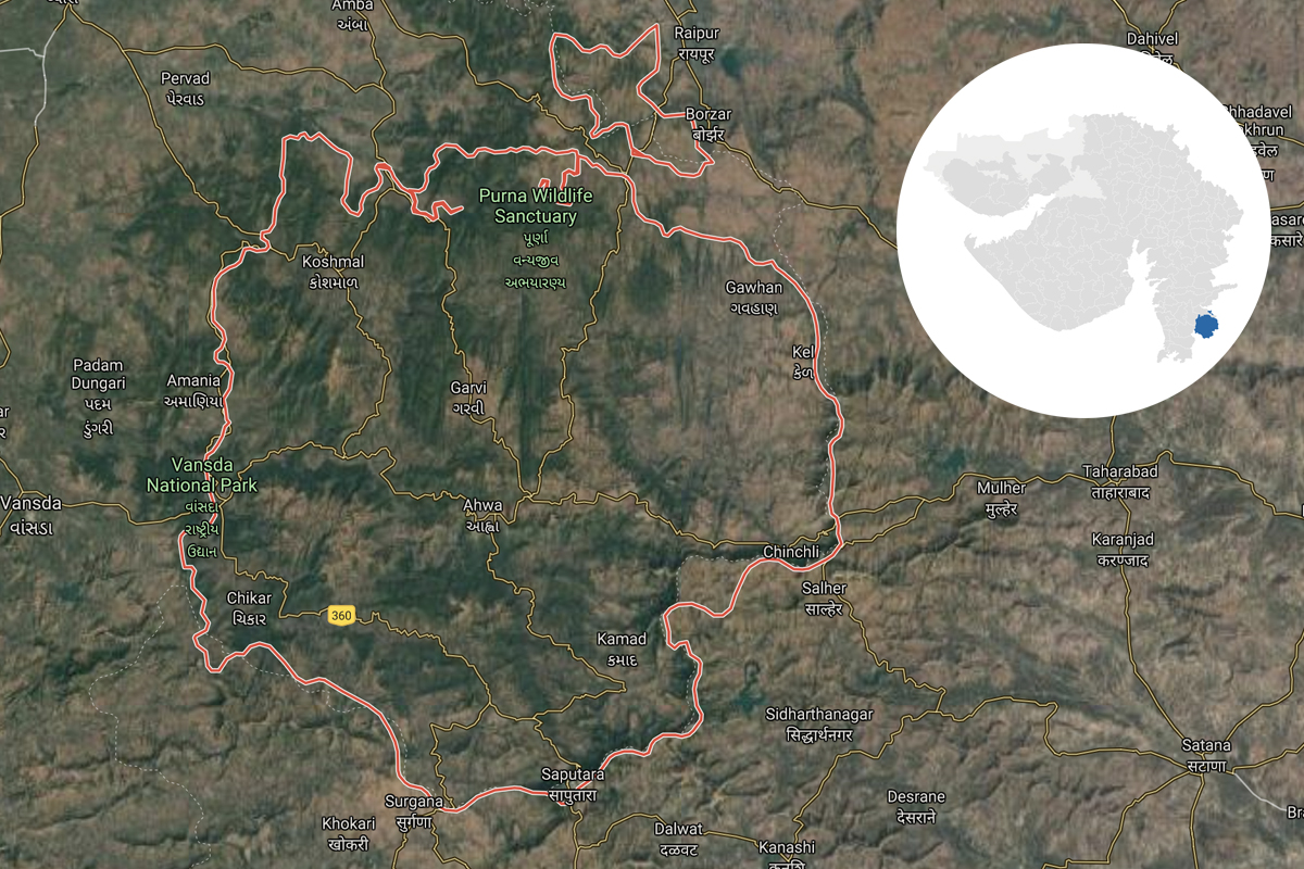 Dang is a tribal district in south Gujarat with a population of around 2.3 lakhs. The region forms the northern end of the Western Ghats and has some of the densest forests in the state.