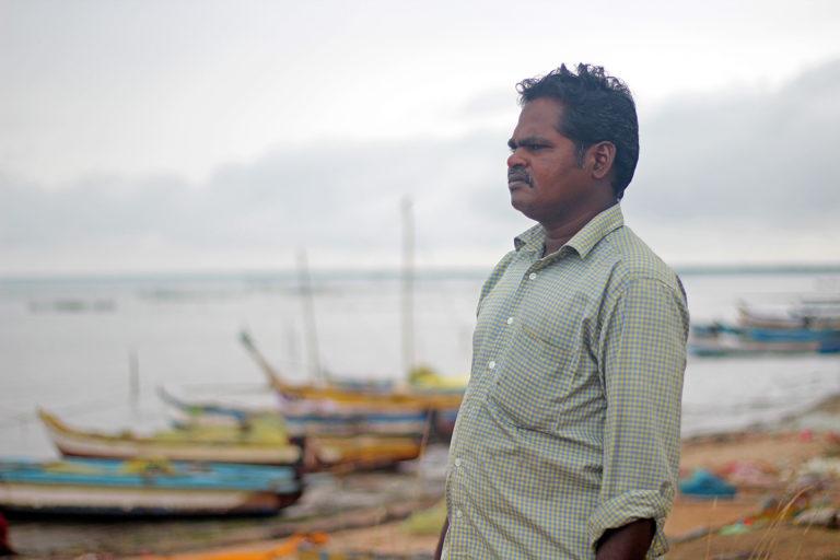Murugan, a fisherman from Adaikathavan village, worked on seagrass restoration in the region. Photo by Balasubramaniam N.