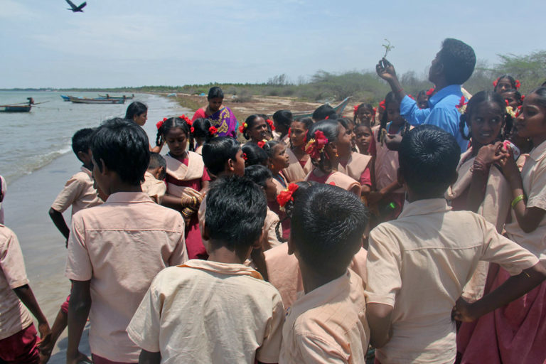 Marine conservation awareness programme by OMCAR Foundation in Palk Bay. Photo from OMCAR Foundation.