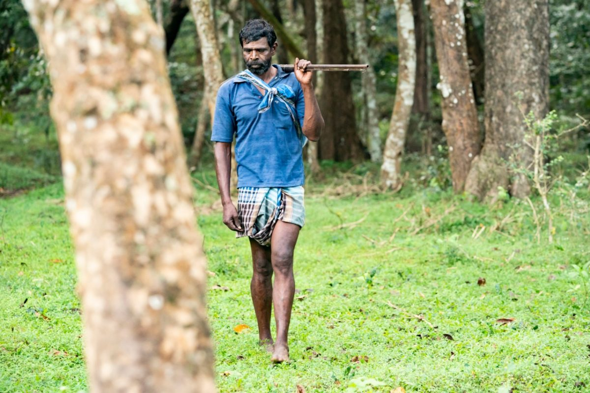 Mahamayan, former poacher and present team leader of Vidiyal Pathukappu Sangam, the country's first eco-development committee constituted solely of former poachers and sandalwood smugglers. Photo by Rahana Habeeb.