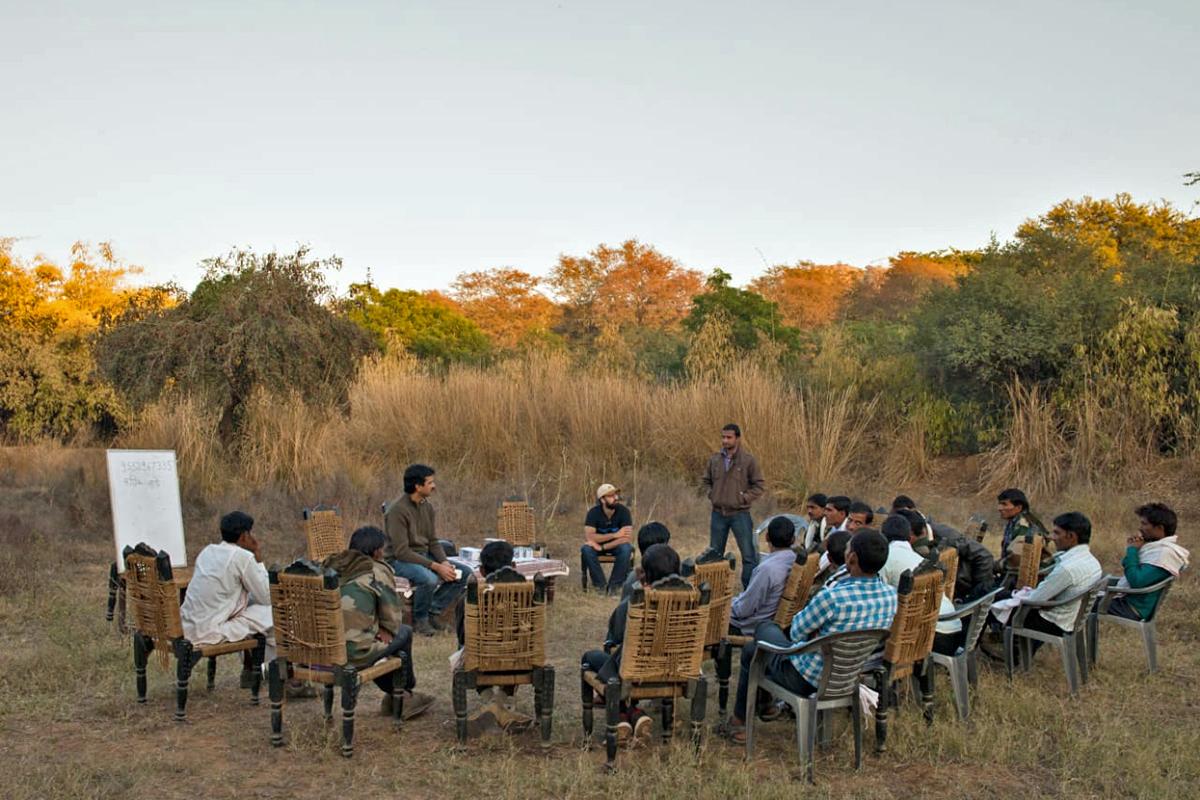 Villagers being trained under Tiger Watch's Village Wildlife Volunteers programme. Photo by Aditya Singh.