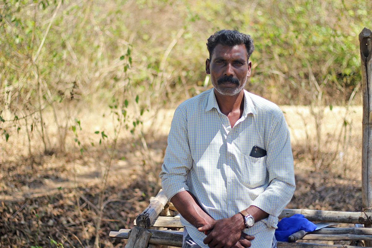 Masanan, an Irula tribal member from Nilgiris. Photo by Balasubramaniam N.