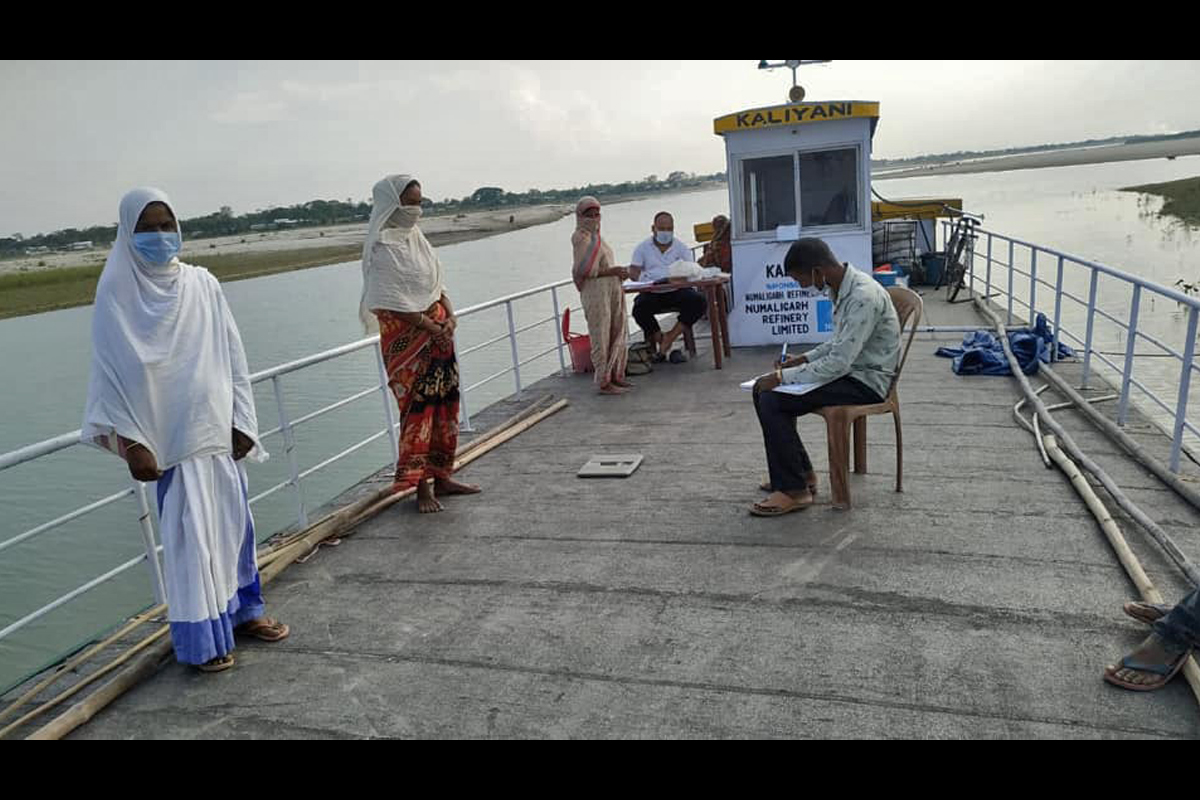 A health check-up at Kamrup Boat Clinic during the lockdown. Photo from C-NES.