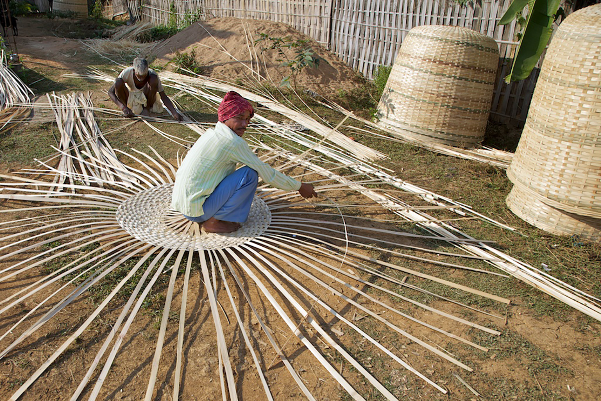 A basket weaver in Assam. Additional funding of Rs 400 billion for the Mahatma Gandhi National Rural Employment Guarantee Scheme (MGNREGS) was provided in the recent economic package. Photo by Michael Foley/Flickr.