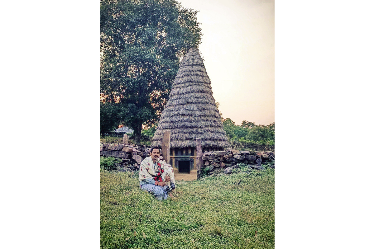 Northay Kuttan, a member of the Toda tribal community, works on reviving the Toda buffalo population. Photo from Northay Kuttan.