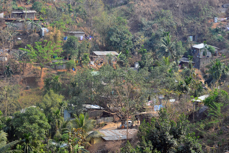 Encroachment of hills in Guwahati which is also the habitat of leopard. Photo by Mridul Bora.