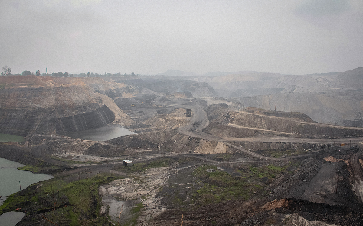 Gevra mine, Asia's largest and the world's second-largest open-cast mine in Korba district. Photo by Vaishnavi Suresh.