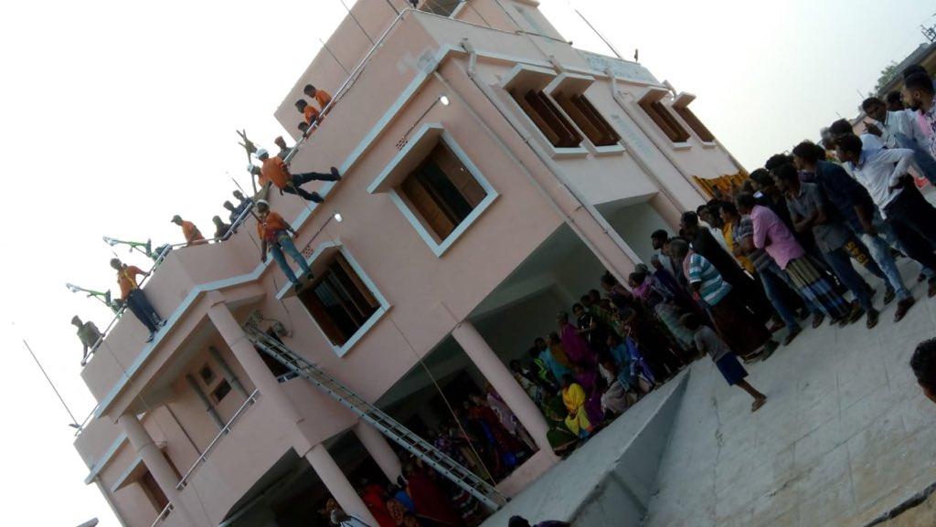 A test run of the Indian Ocean Tsunami Ready programme at Venkatraipur