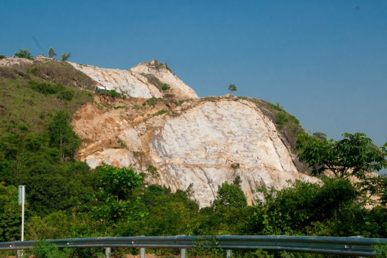 A view of the Ambukuthi hills which houses the world-famous Edakkal caves. Quarrying continues in the hills. Photo by Sibi Pulpalli.