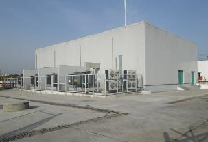 India's first grid-scale battery, installed at a substation in New Delhi (Photo courtesy Tata Power-DDL)