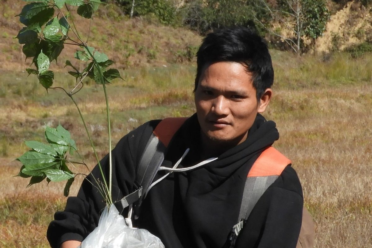 Community members such as Ojar Taku with knowledge about the terrain and traditional knowledge play an important role in research. Photo by Momang Taram.