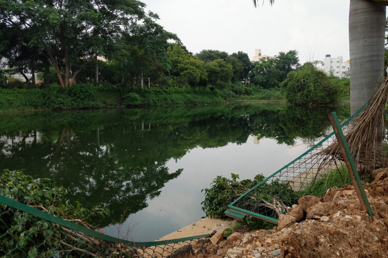 A small pond or 'katte' in Hosahalli. The pond was earlier used by local communities but has suffered due to sewage and misguided rejuvenation work. Photo by Mohit Rao.