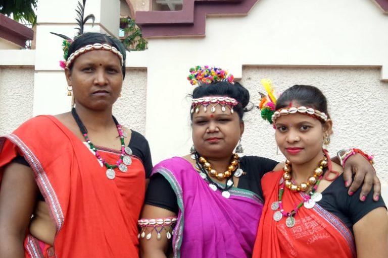 Sarojini Goyal (centre) with other SHG members. Photo by Azera Parveen Rahman.