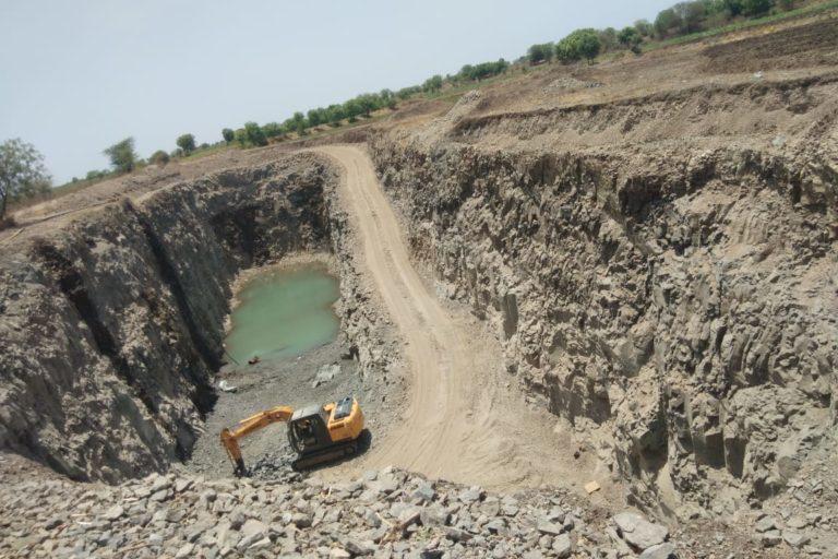 Stone mining done beyond permissible limits. Photo by Vinaykumar Jathar.