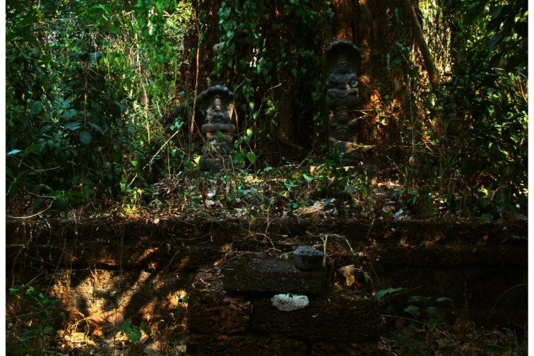 Deities in an ancient serpent grove at Shaktan Thampuran Palace, Thrissur, Kerala. Photo by Bavish K.B.