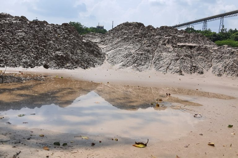 The tailings from the processing of ore contributes to a number of diseases in the local population. Photo by Sohail Khan.