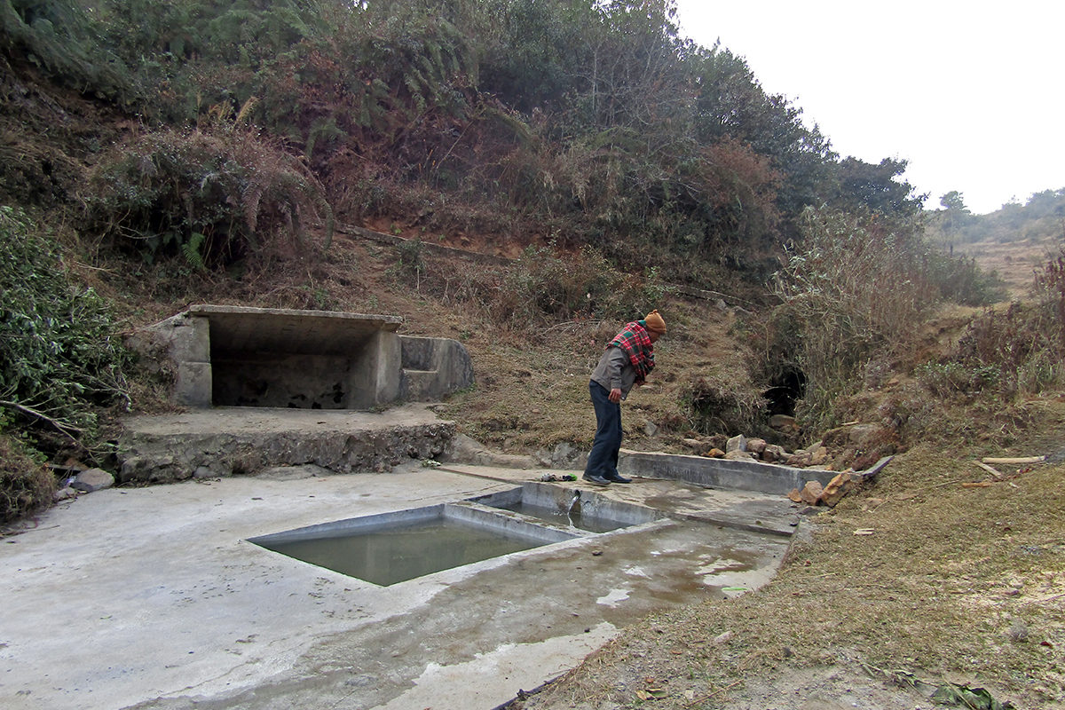 A drinking water pond maintained in Mawphlang. The sacred groves help replenish the water bodies in the region that villagers use for drinking and cooking. Photo from Tambor Lyngdoh.