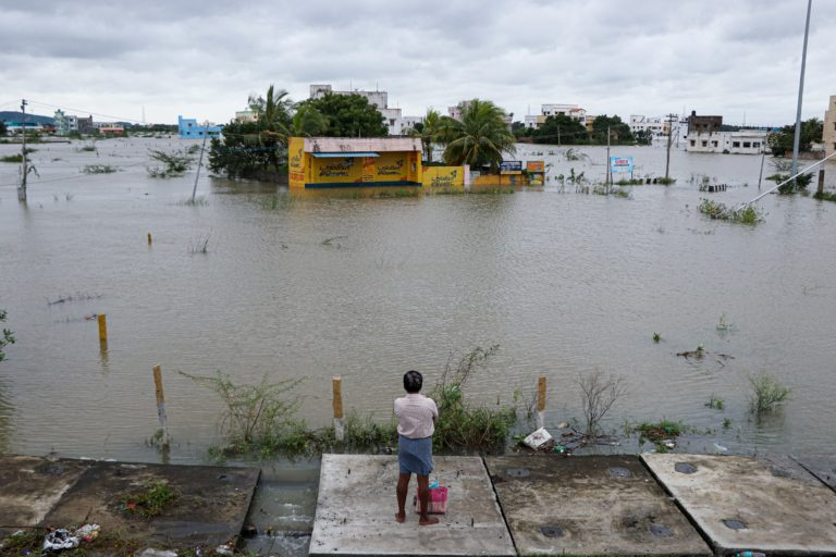 Several suburban areas such as Varadharajapuram were flooded. Nivar left Chennai and its suburbs with a surplus of 36% water. Photo by Adaleru Ramamoorthi.