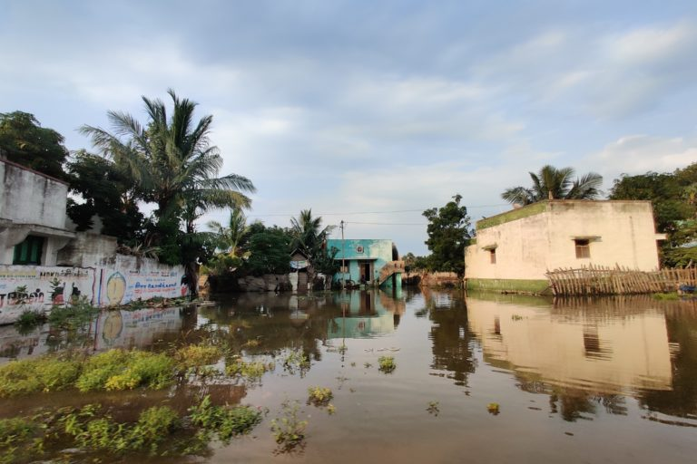 Villages in Cuddalore district were flooded as Nivar brough severe rains. Photo by Mahima Jain.