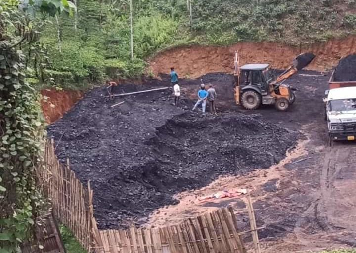 An illegal coal storage yard near Ledo. Photo by Devajit Moran.