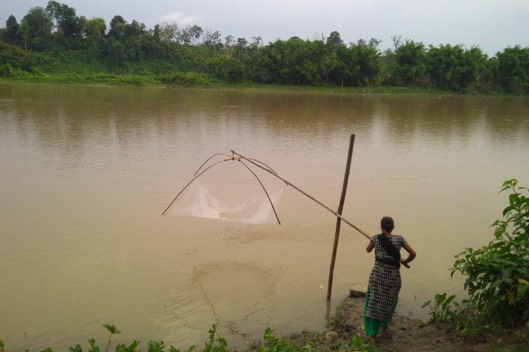 Buridehing River near Margherita which provides livelihood to several communities living around the Dehing Patkai Wildlife Sanctuary. Photo by Anupam Chakravartty.