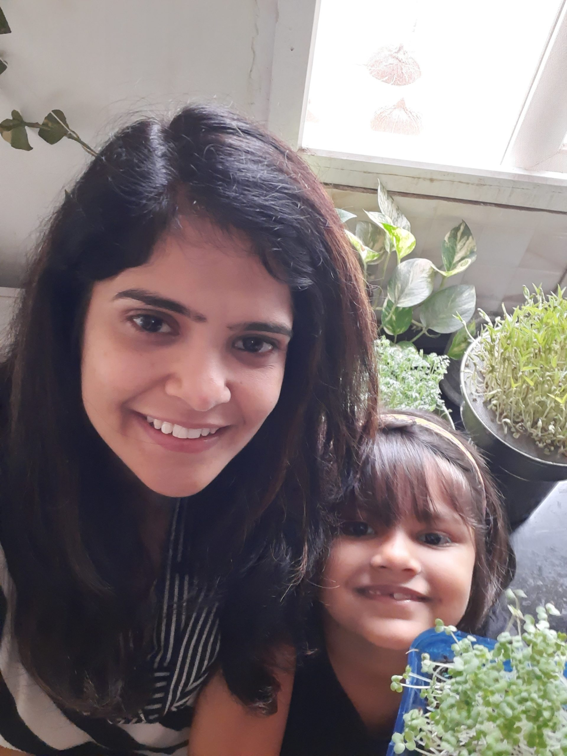 Rishita Sharma with her microgreens - Picture Courtesy - Rishita Sharma