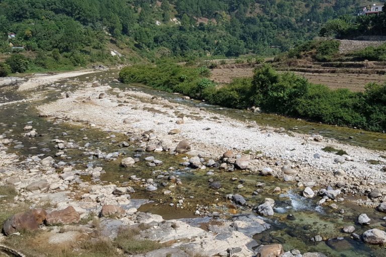 River Pungar is the lifeline of Reema valley and mining poses a threat to its health. Photo by Hridayesh Joshi.