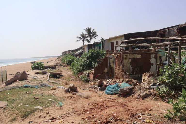 A damaged house at the Podampetta village in Odisha. Credit-Pramit Karmakar