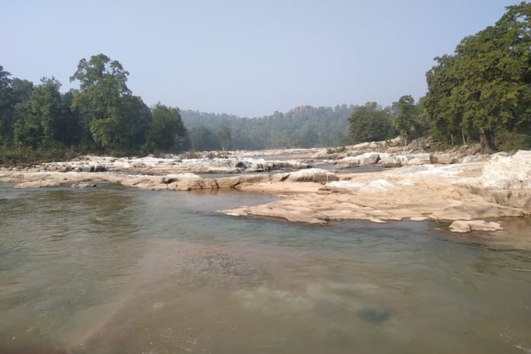 Bauxite mining in Chhattisgarh and Jharkhand has taken a toll on the health of Burha river. Photo by special arrangement.