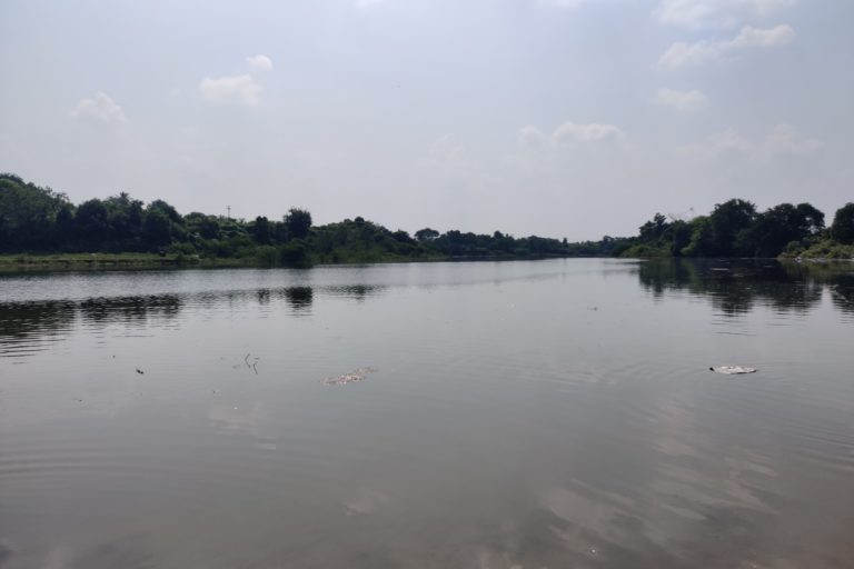 The Kukadi river flowing through Bori Budruk is used by the villagers for domestic purposes and agriculture. The community maintains a watch for pollution, sand mining and even visitors coming to the river bed. Photo by Manjula Nair.