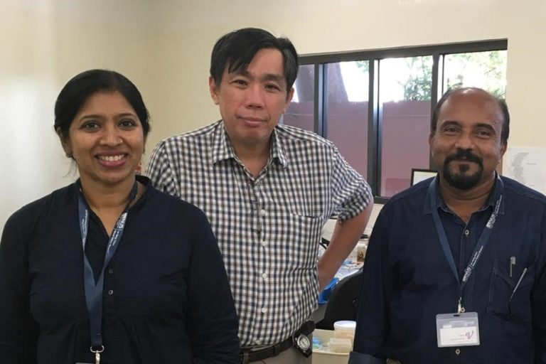 Dr. Suvarna S. Devi of the University of Kerala, Dr. Prof Peter K. L. Ng of the National University of Science in Singapore and Dr. Prof Biju Kumar A. of the University of Kerala. Photo by special arrangement.