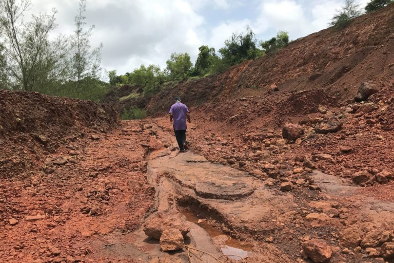 Mining has had a serious impact on what was once fertile agricultural land in Goa. Photo by Supriya Vohra.