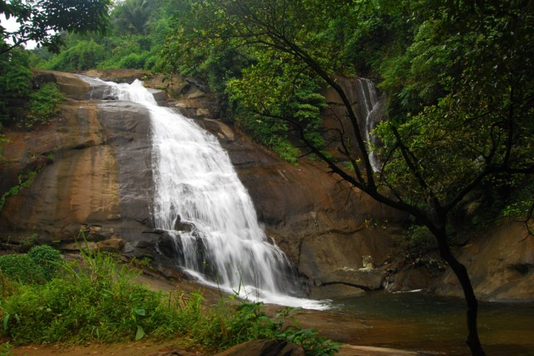 A waterfall near Meppady where the proposed road tunnel ends. Photo by S. Dhruvaraj.