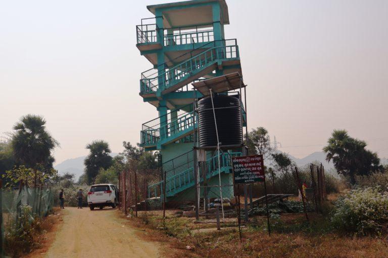A watchtower constructed near Bhetnoi village to spot roaming blackbucks. Photo by Manish Kumar.